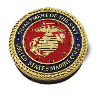 Objet dart Semper Fidelis US Marine Corps Trinket Box