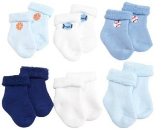 Gerber Baby Boys Newborn 6 Pack Variety Cozy Socks