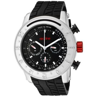 Red Line Mens Tread Black Silicone Watch