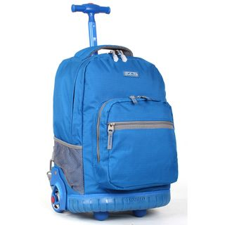 World Sunrise Blue 18 inch Rolling Backpack