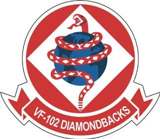US Navy VF 102 Diamondbacks Squadron Decal Sticker 3.8 6 Pack