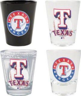 Texas Rangers 3D Logo Shot Glass Set