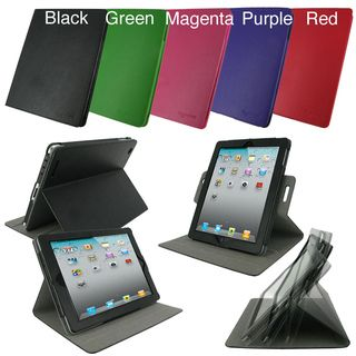 rooCASE Dual View Leather Case Cover for iPad 2/ The new iPad 3