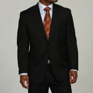 MICHAEL Michael Kors Mens Black 2 button Wool Suit
