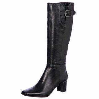 Bandolino Womens Adelaise Black Mid calf Buckle Boots FINAL SALE
