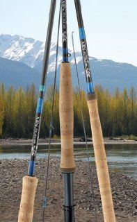 NRX Two Hand Spey Fly Fishing Rod NRX 1689/104 Blue Sports & Outdoors