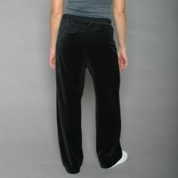 Ellen Tracy Womens Black Velour Track Pants
