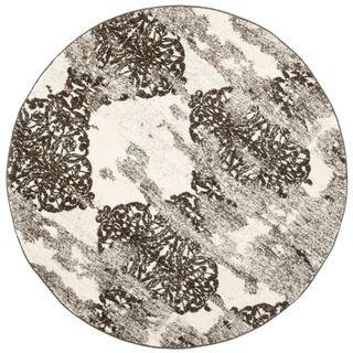 Deco Inspired Beige/ Light Grey Rug (6 Round)