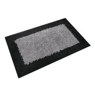 TAPIS 60x110 cm NICOLAS NOIR ET GRIS 100% COTON   Achat / Vente TAPIS