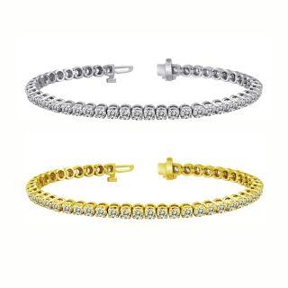 14k Gold 8ct TDW Diamond Tennis Bracelet (I J, I1 I2)