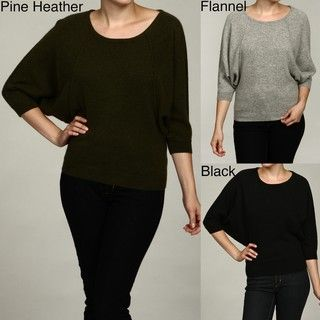 Oliver & James Womens Cashmere Dolman Sleeve Sweater FINAL SALE