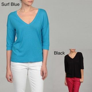 Cable & Gauge Womens Button Detail Pullover Top FINAL SALE