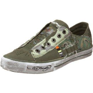 Ed Hardy Mens Oakland Sneaker,Military 10fol104M,11 M US: Shoes