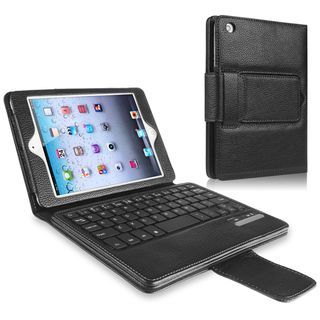 BasAcc Leather Case Stand with Bluetooth Keyboard for Apple iPad Mini