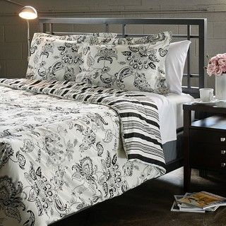 Cordoba Black King size 3 piece Duvet Cover Set