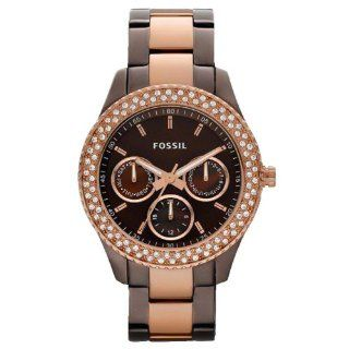 Fossil Womens ES2955 Stainless Steel Analog Brown Dial Watch Watches