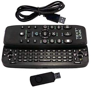 PS3 Text Link Slide out Keypad Remote Controller