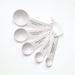 KitchenAid White Measuring Spoons (Set of 5)