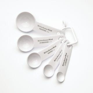 KitchenAid White Measuring Spoons (Set of 5)