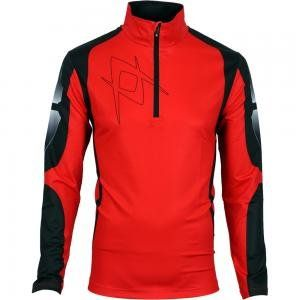 Volkl Mens Silver Zip Shirt (Large, Red with Black Print
