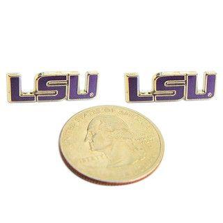 LSU Tigers Post Stud Logo Earrings