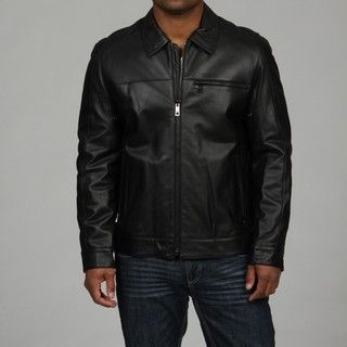 Andrew Marc Mens DV Rider Washed Lamb Leather Jacket FINAL SALE