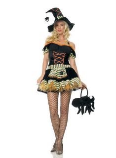 Leg Avenue Womens Sexy Black Widow Witch Costume