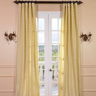Motif Buttermint Faux Silk Curtain Panel