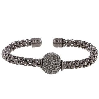 Morgan Ashleigh Gunmetal plated Base Metal Disco Ball Cuff Bracelet