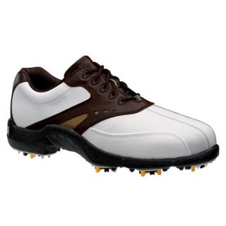 FootJoy SuperLites White/ Brown/ Gold Golf Shoes