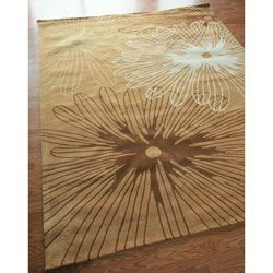 Hand tufted Alexa Pino Collection Floral Rug (5 x 8)