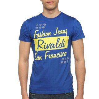 RIVALDI T Shirt Homme Bleu royal   Achat / Vente T SHIRT RIVALDI T