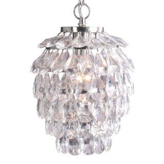 Laura Ashley PXX111 Sharifa Mini Pendant, Satin Nickel