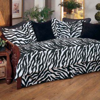 Zebra Print Daybed Cover Set