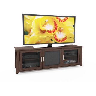 Sonax 64 inch Wood Veneer TV/ Component Bench
