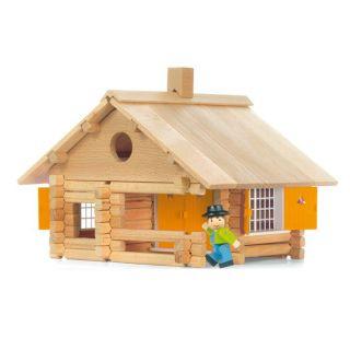 Jeujura   La Maison en rondins   135 pièces : jeu de contruction en