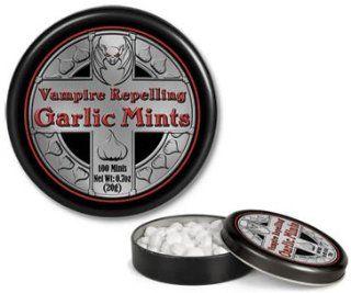 Gothic Garlic Flavor Vampire Mints In Collectible Tin