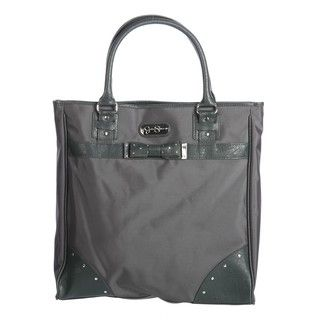 Jessica Simpson Bow Tie Grey Carry on Vertical Laptop Tote Bag