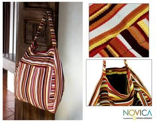 Cotton Colors of My Land Travel Bag (Guatemala)