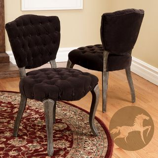 Christopher Knight Home Bates Tufted Dark Chocolate Fabric Dining