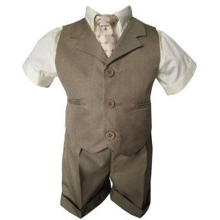 New Baby and Toddler Boy Summer Suit Charcoal/Grey Vest