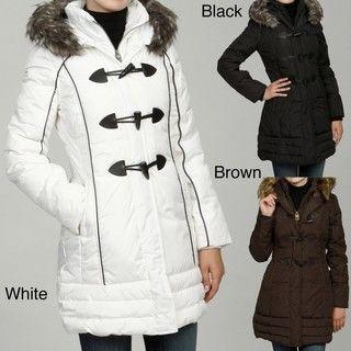Miss Sixty Womens Faux Fur Down Coat FINAL SALE
