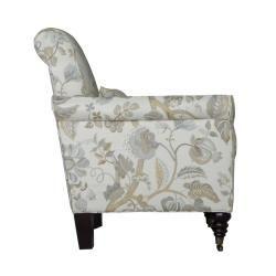 angeloHOME Harlow Vintage Floral Ocean Blue Arm Chair