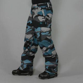 Rip Curl Mens Focker Pattern Moonless Black Ski Pants