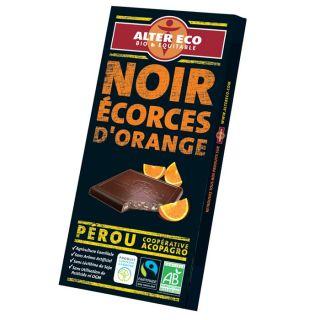Chocolat Noir Orange Bio 100g   Achat / Vente CHOCOLAT EN TABLETTE