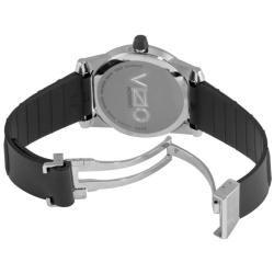 Movado Mens Vizio Black Carbon Fiber Rubber Strap Watch