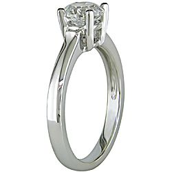 Miadora 14k White Gold 1ct TDW Diamond Solitaire Ring