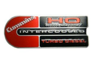Dodge Ram Cummins (Big C) Ho Turbo Diesel Engine Emblems Badge Red