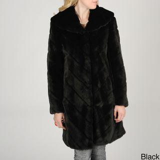 Nuage Womens Samara Faux Fur Coat