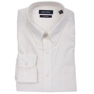 Nautica Mens Solid Ercu Dress Shirt